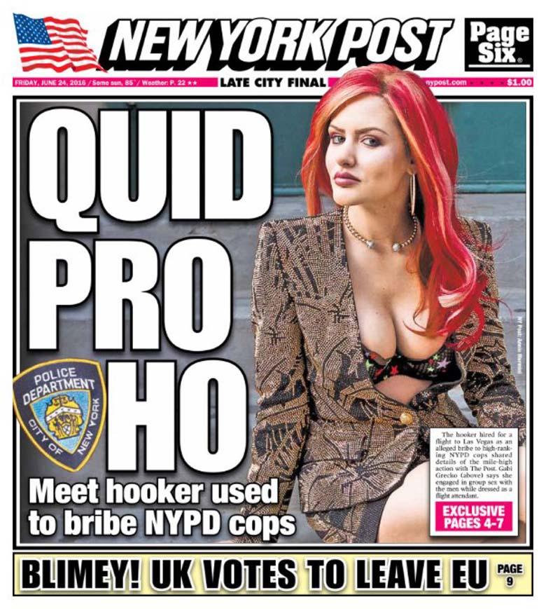 Gabi Grecko New York Post Cover