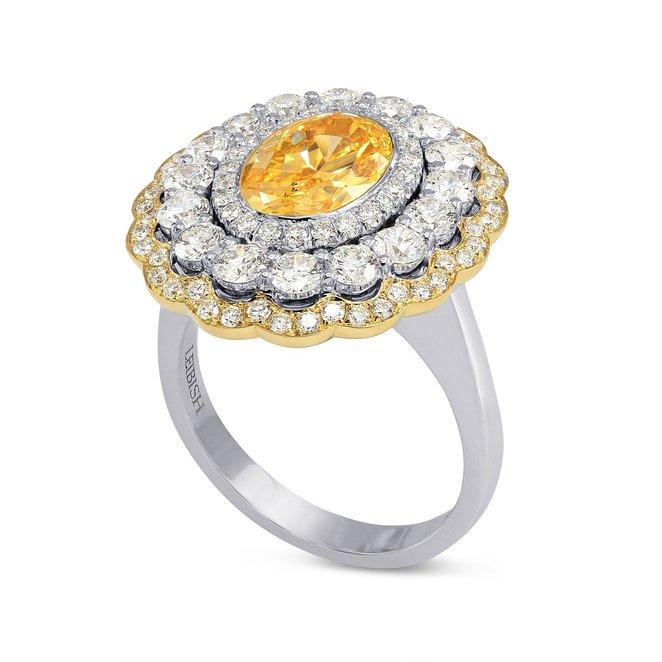 orange diamond engagement ring