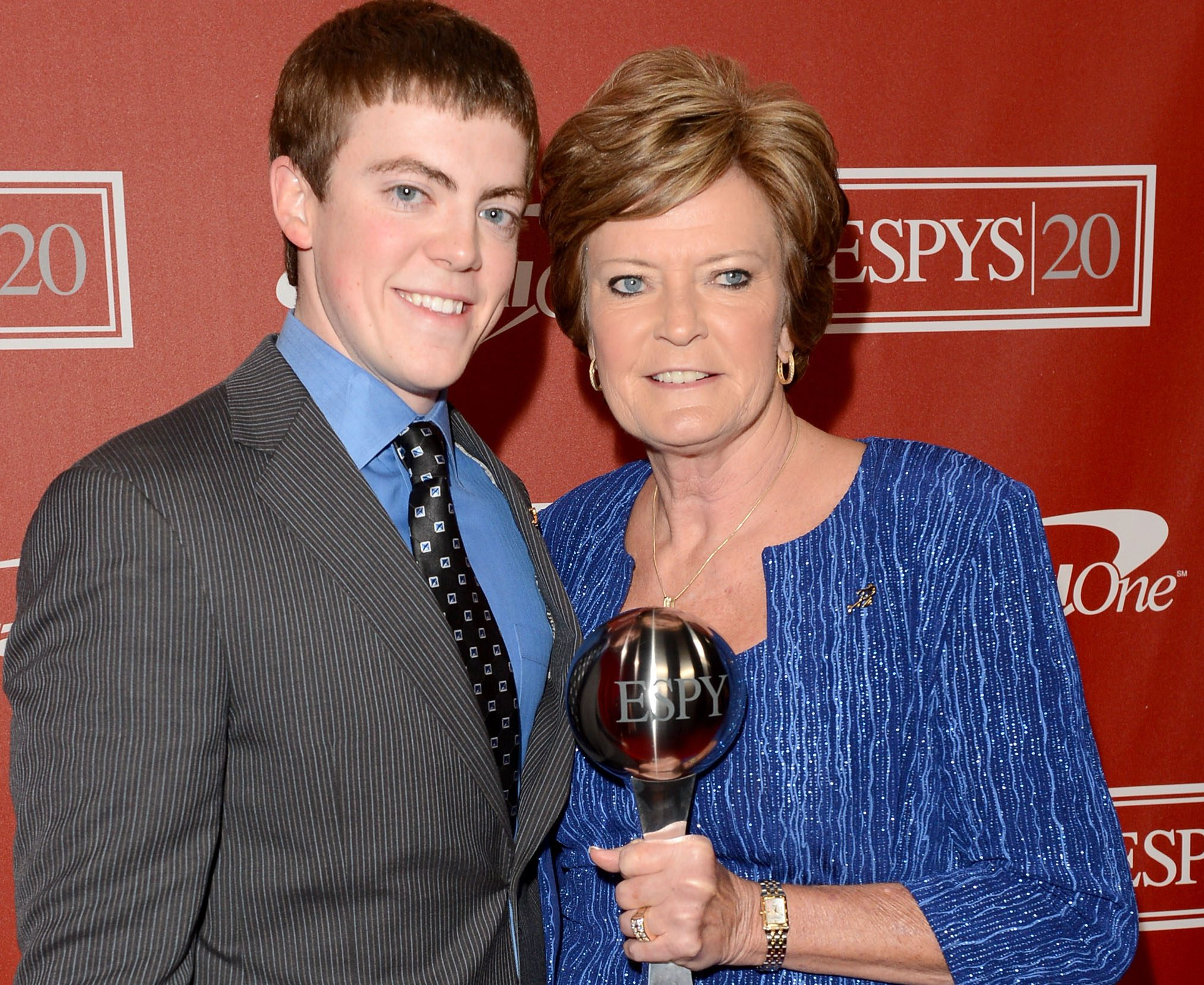 Pat Summitt with her son Tyler at the 2012 ESPY Awards. (Getty)