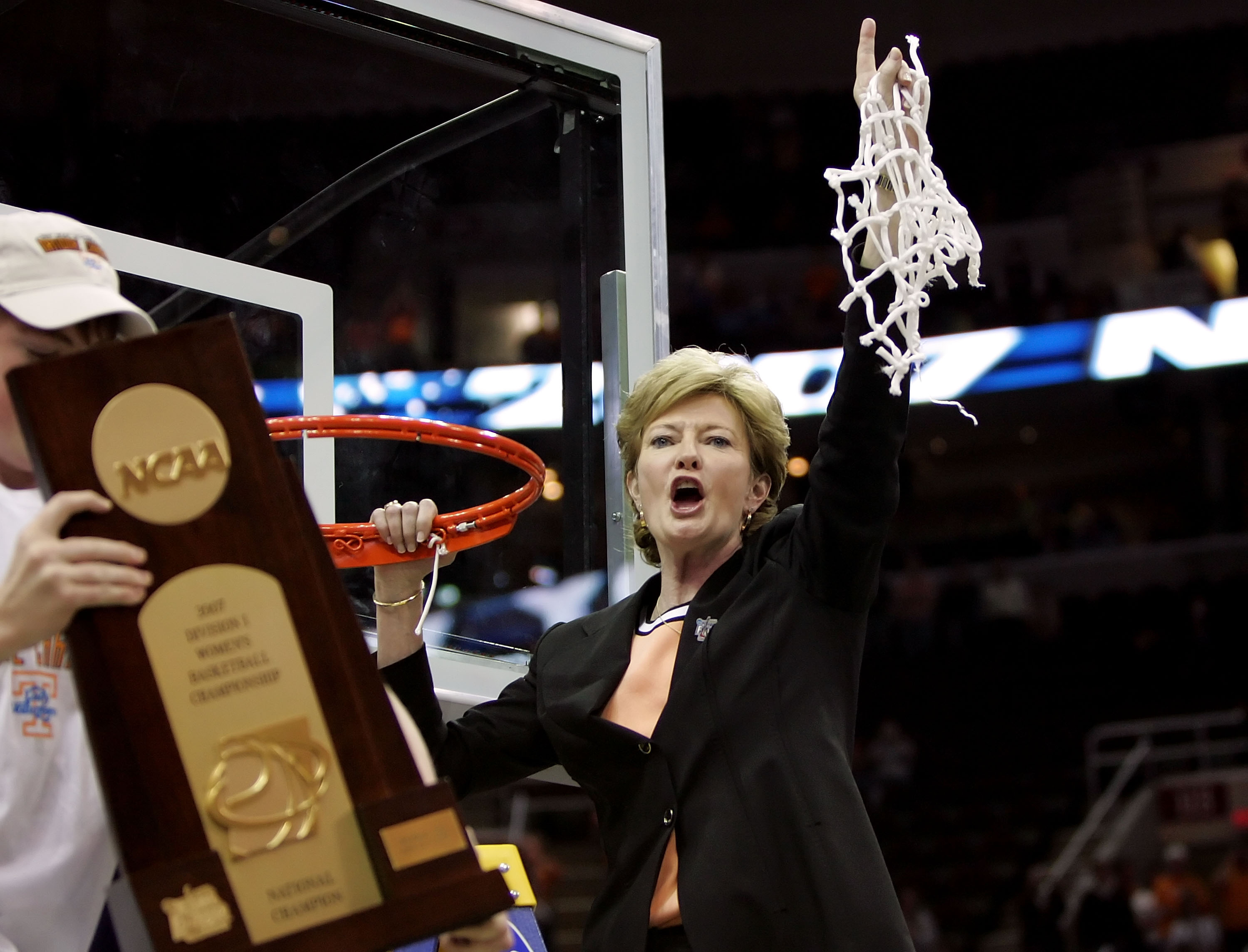 Pat Summitt after winning the 2007 National Championship. (Getty)