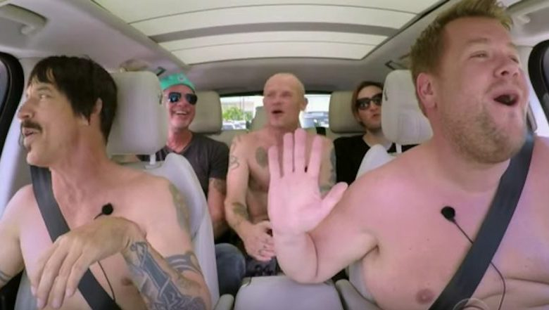red hot chili peppers, james corden, red hot chili peppers videos, red hot chili peppers new album, red hot chili peppers new song, red hot chili peppers carpool karaoke, james corden carpool karaoke, carpool karaoke, carpool karaoke videos, best carpool karaoke videos, the late late show