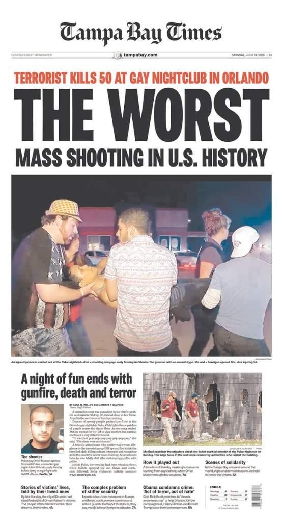 Tampa Bay Times, Orlando Shooting, Orlando Florida