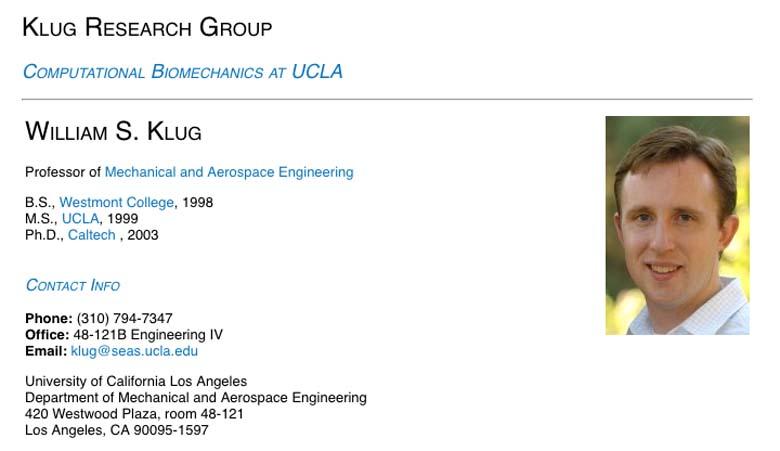 William Klug UCLA