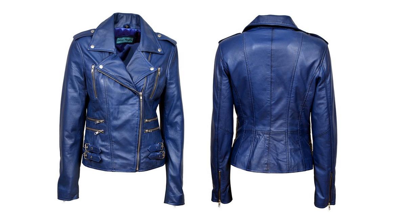 Western Leather Womens Lambskin Leather Bomber Biker Jacket
