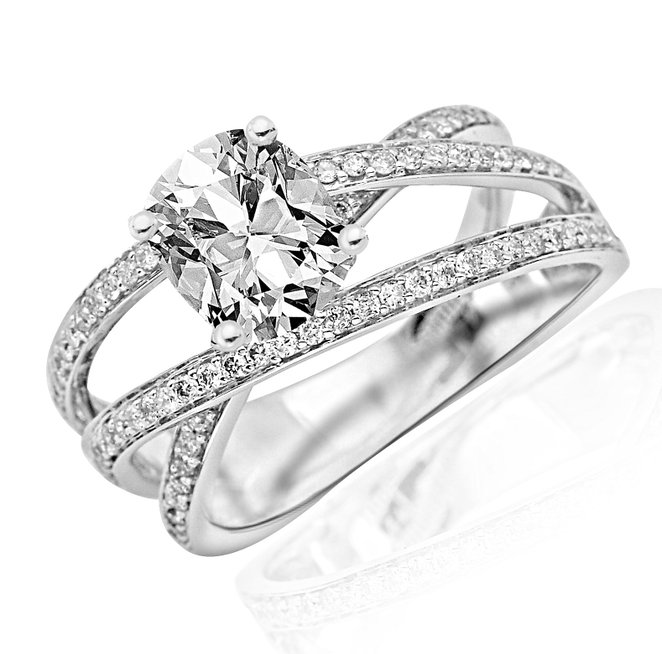 2 carat Contemporary Diamond Engagement Ring