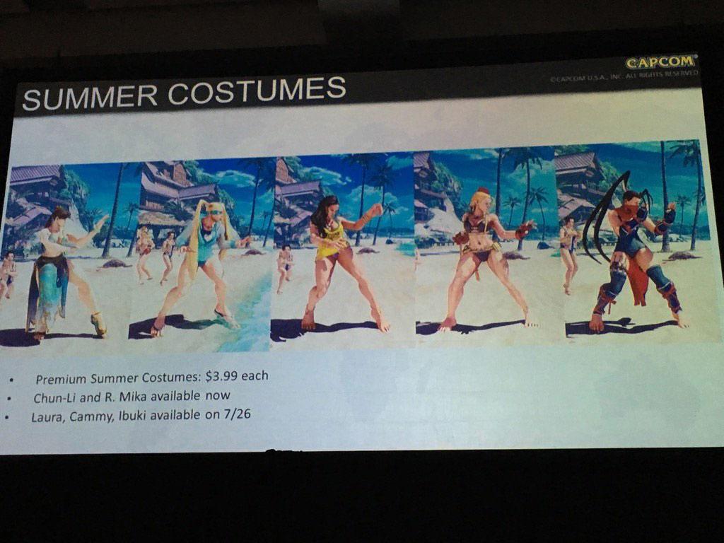 SFV Summer Costumes