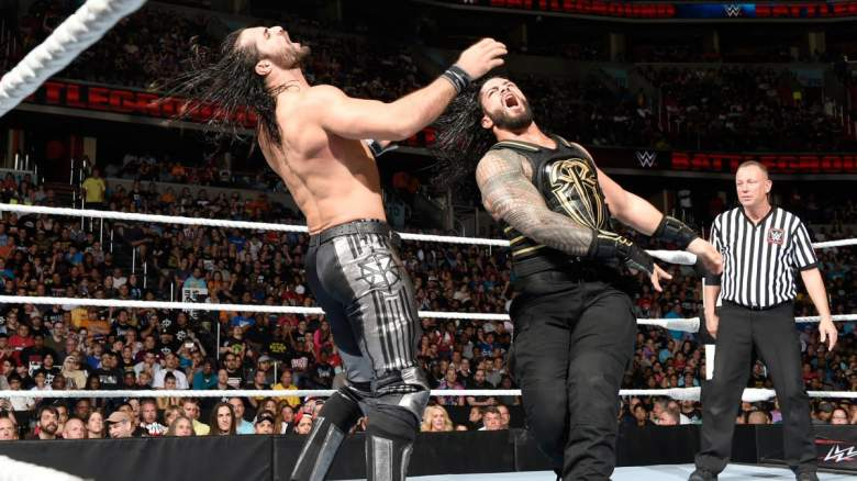 Roman Reigns Seth Rollins, Roman Reigns WWE battleground, Seth Rollins wwe battleground