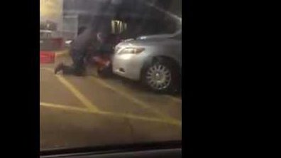 A screen shot from the citizen video of Sterling's shooting.