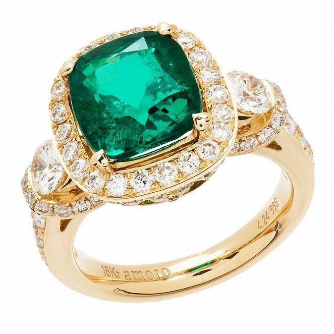 emerald cushion cut engagement rings