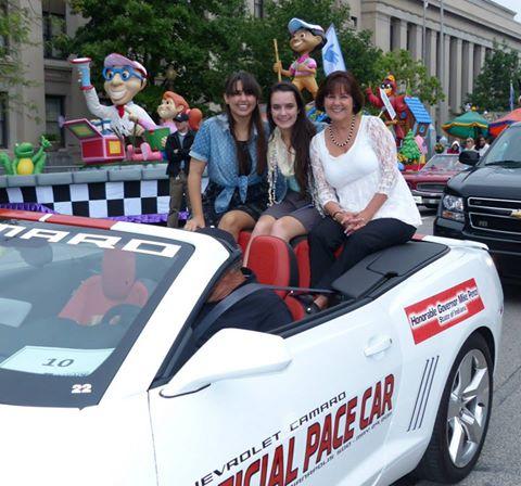 Audrey Pence (far left) in a parade. (Facebook/Audrey Pence)