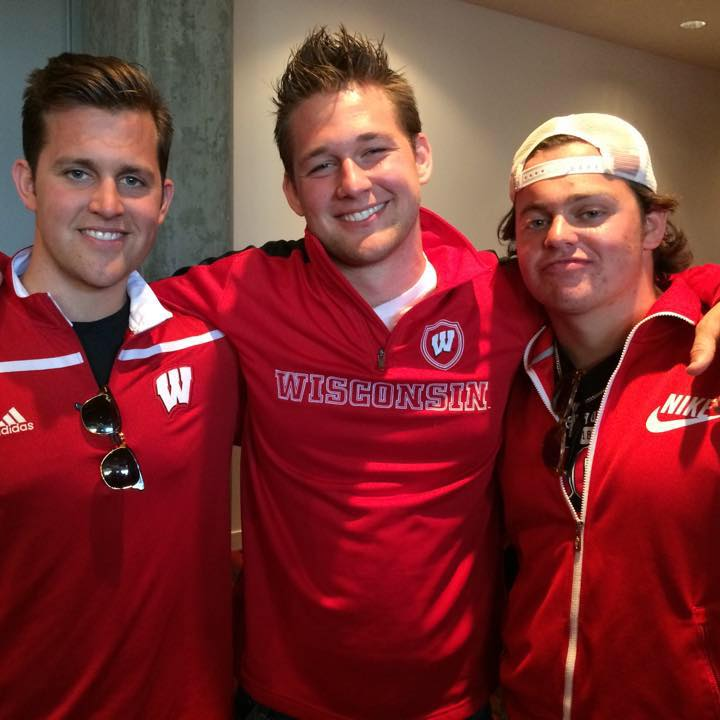 Beau Solomon (right) with his brothers. (Facebook/Cole Solomon)