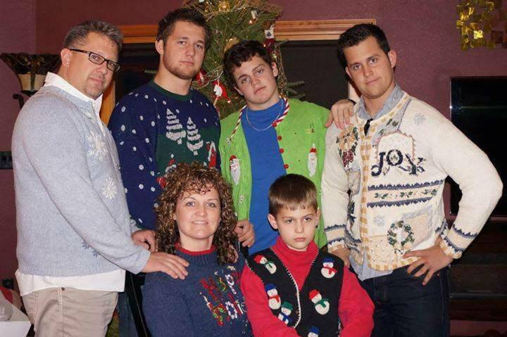 Beau Solomon's cover photo on Facebook is a family Christmas picture, complete with Christmas sweaters. (Facebook/Beau Solomon)