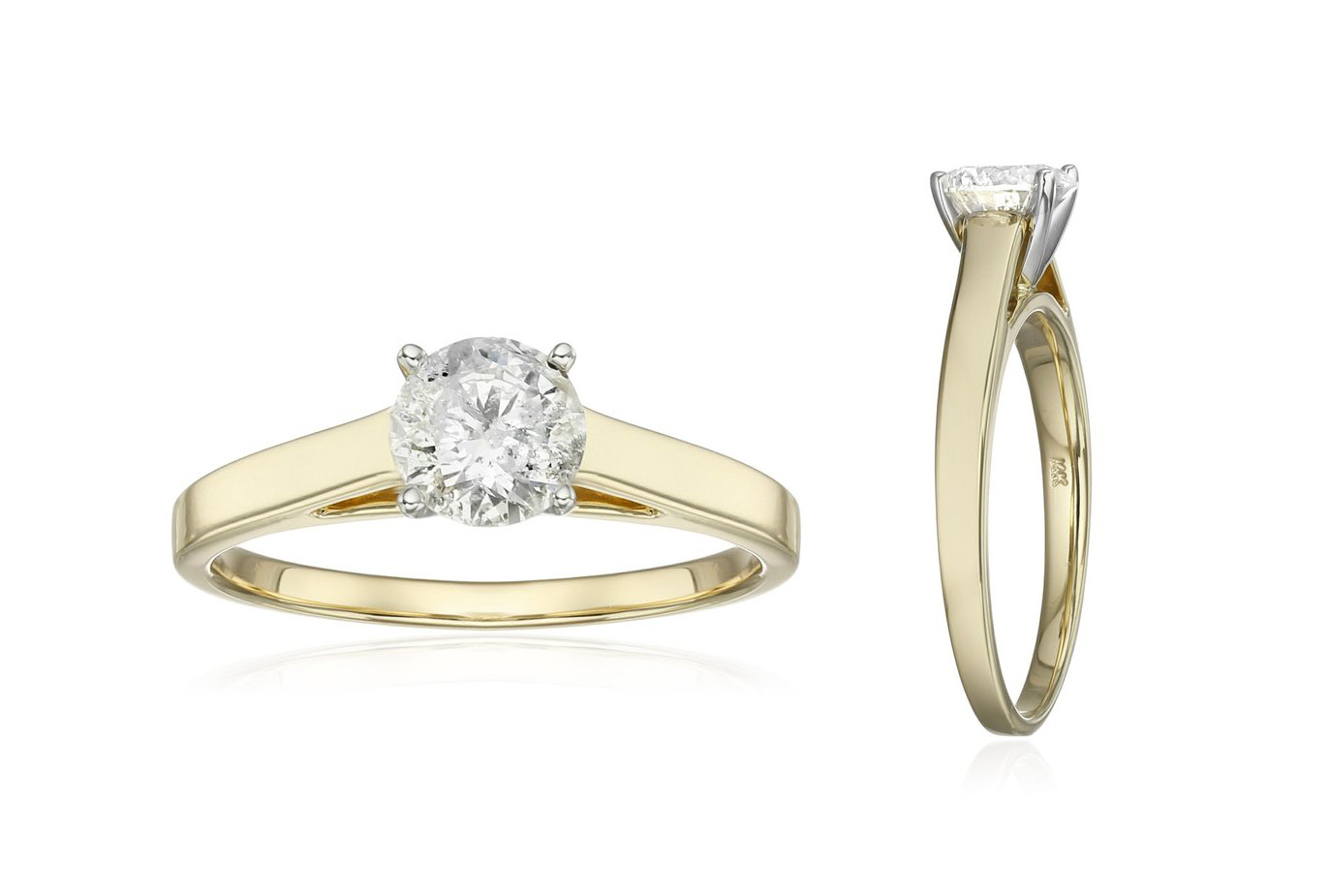 solitaire yellow gold engagement rings