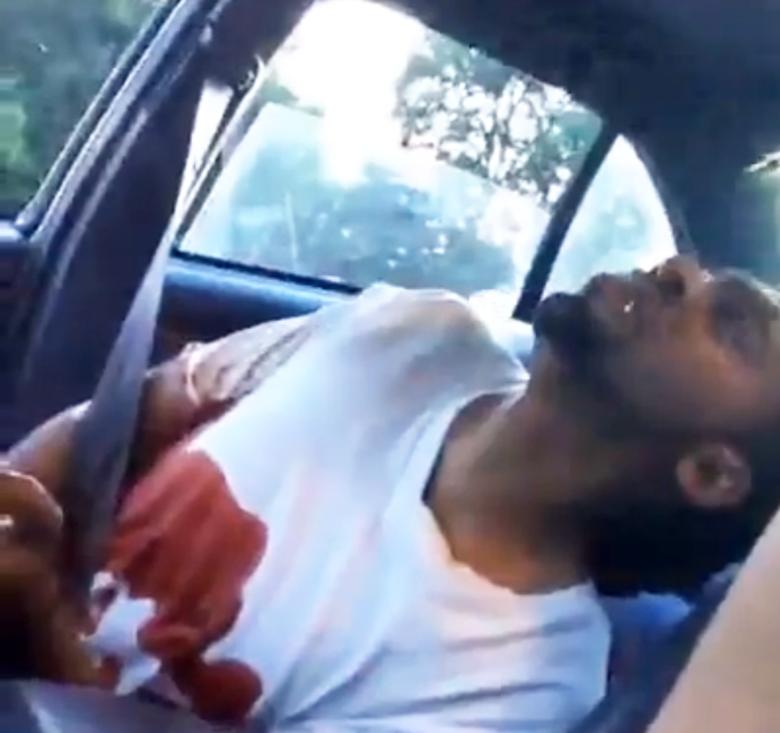 Screenshot of Philando Castile bleeding after being shot. (Facebook/Lavish Reynolds)