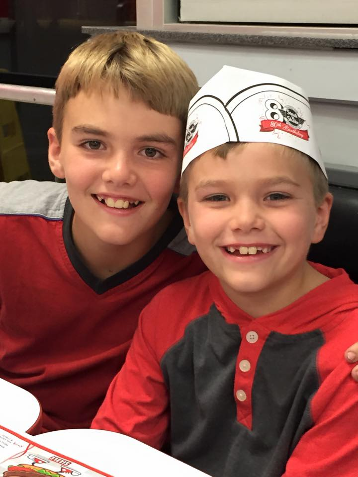 """""""Love these sweet boys,"""" Stephen's mother, Elizabeth, posted of this photo. (Facebook/Elizabeth Brumby)"""