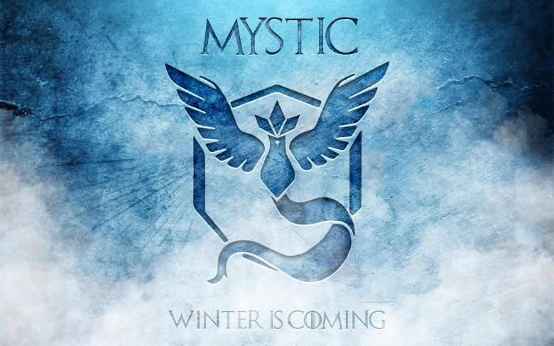 Members of Team Mystic have produced tons of fan art comparing their side to House Stark from Game of Thrones (Reddit/crazy8rex)