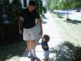 A picture of Flynn with one of his grandchildren.) (FacebooK