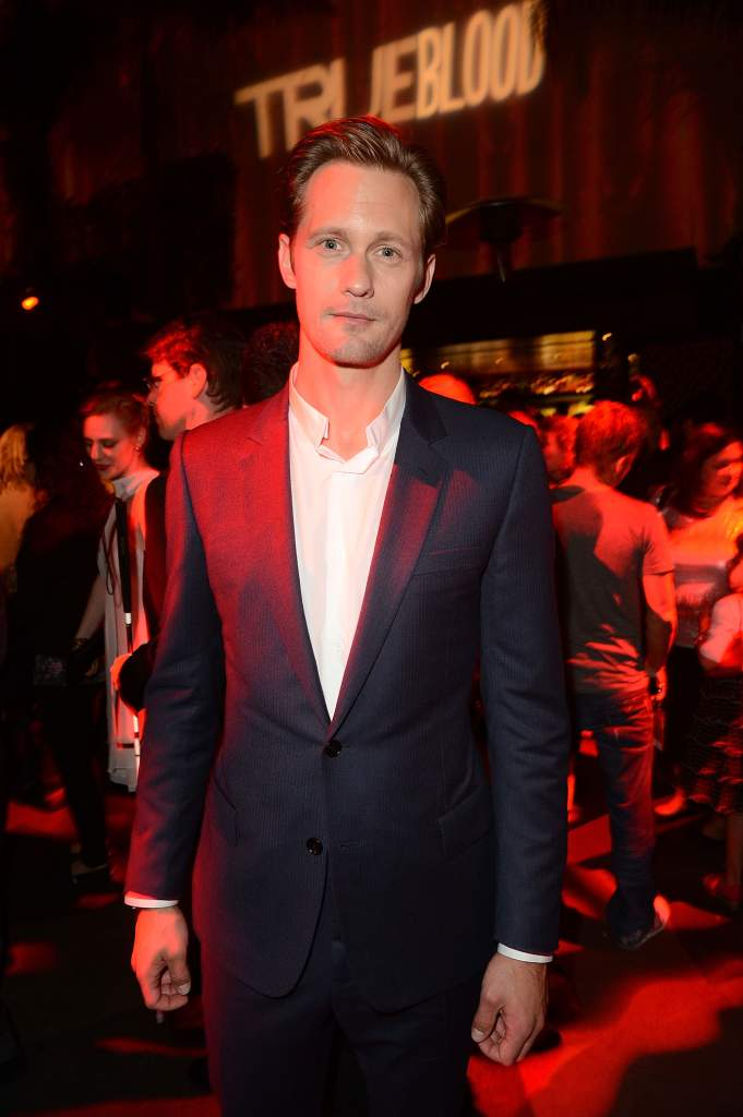 Alexander Skarsgard arrives at the HBO 'True Blood' season 5 premiere after party in 2012. (Getty)