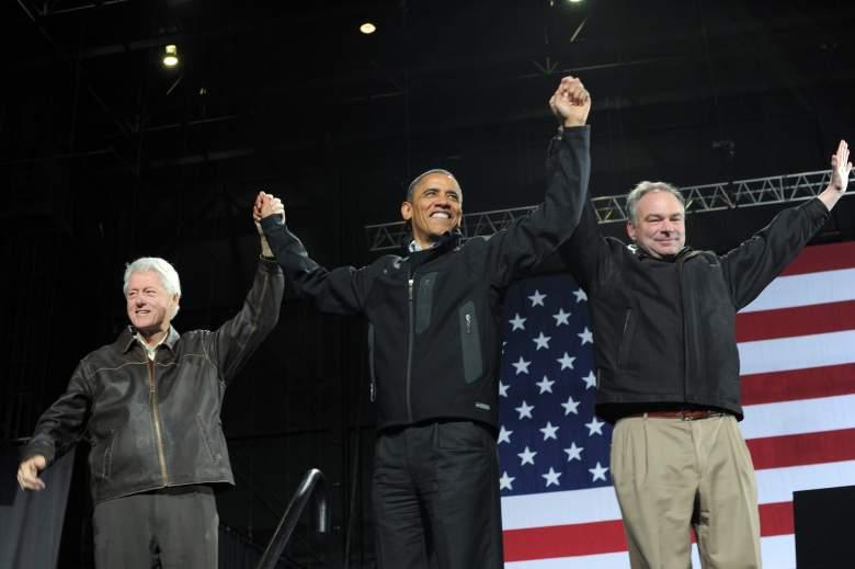 Tim Kaine, Bill Clinton, Barack Obama