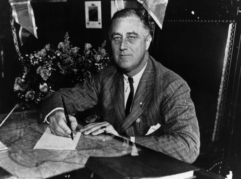 Franklin D. Roosevelt, FDR, president with three terms