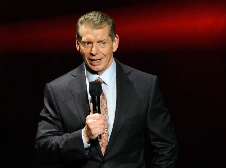 WWE Chairman and CEO Vince McMahon speaks at a news conference announcing the WWE Network (Getty)