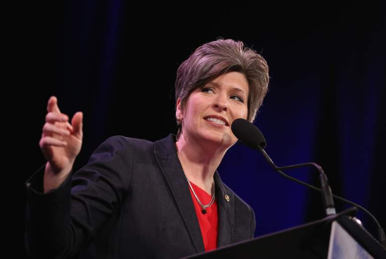 U.S. Sen. Joni Ernst (R-IA) speaks to guests  at the Iowa Freedom Summit on January 24, 2015 in Des Moines, Iowa.  (Getty)