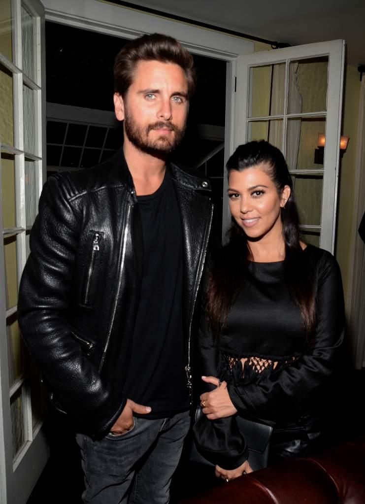 Kourtney Kardashian and Scott Disick in an earlier photo. (Getty)