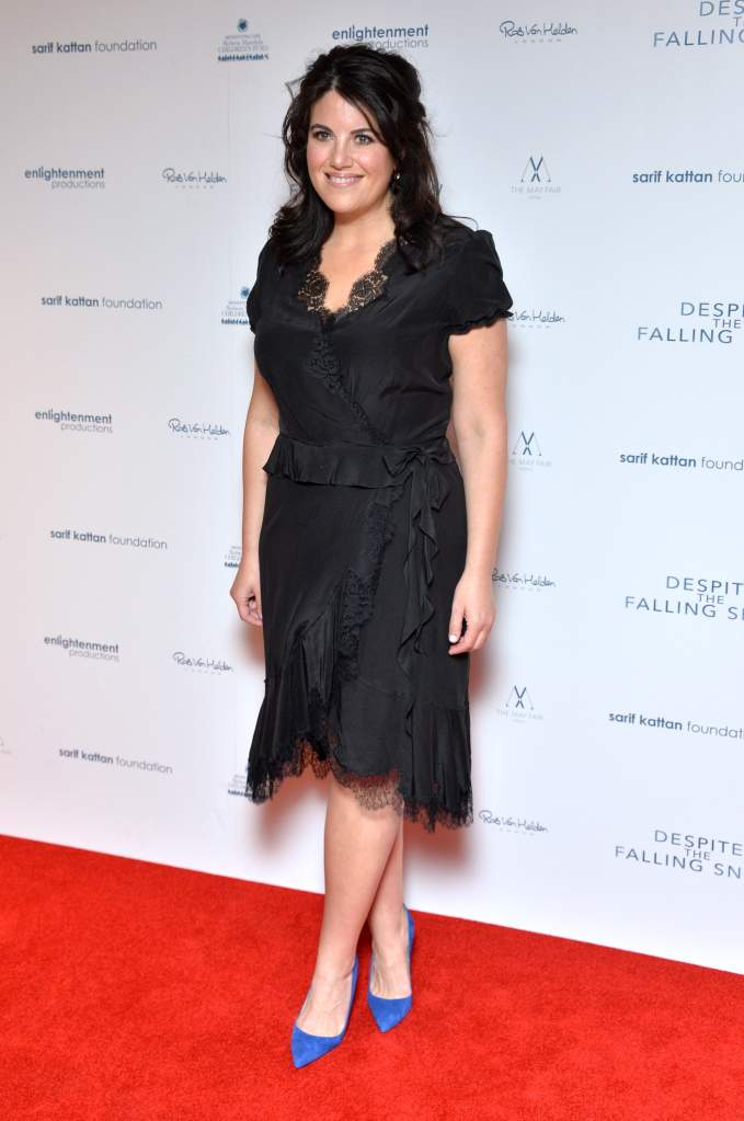 LONDON, ENGLAND - MARCH 23: Monica Lewinsky attends the gala screening of 'Despite The Falling Snow' on March 23, 2016 in London, United Kingdom. (Photo by Anthony Harvey/Getty Images)