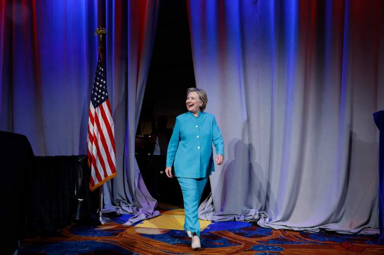 INDIANAPOLIS, IN - JUNE 26: Democratic presidential candidate Hillary Clinton arrives at the U.S. Conference of Mayors June 26, 2016 in Indianapolis, Indiana. Clinton discussed her vision for American cities. (Photo by Aaron P. Bernstein/Getty Images)