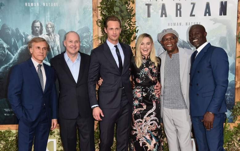 Alexander Skarsgard with the other cast members of The Legend of Tarzan. (Getty)