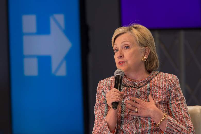 LOS ANGELES, CA - JUNE 28: Democratic presidential candidate Hillary Clinton answers a question from an audience member at a town hall discussion with digital content creators at Neuehouse Hollywood on June 28, 2016 in Los Angeles, California. (Photo by David McNew/Getty Images)