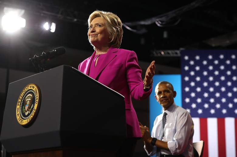 CHARLOTTE, NC - JULY 05: Democratic presidential candidate Hillary Clinton speaks during a campaign rally with U.S. President Barack Obama on July 5, 2016 in Charlotte, North Carolina. Today is President Obama's first appearance on the campaign trail with Clinton. (Photo by Justin Sullivan/Getty Images)
