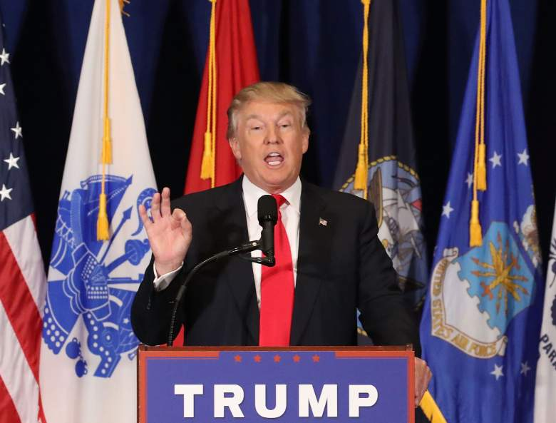 VIRGINIA BEACH, VA - JULY 11: Presumptive Republican Presidential candidate Donald Trump delivers a speech on veteran's issues during a campaign stop July 11, 2016 in Virginia Beach, Virginia. With just a week before the Republican National Convention, Trump has yet to announce a running mate. (Photo by Mark Wilson/Getty Images)