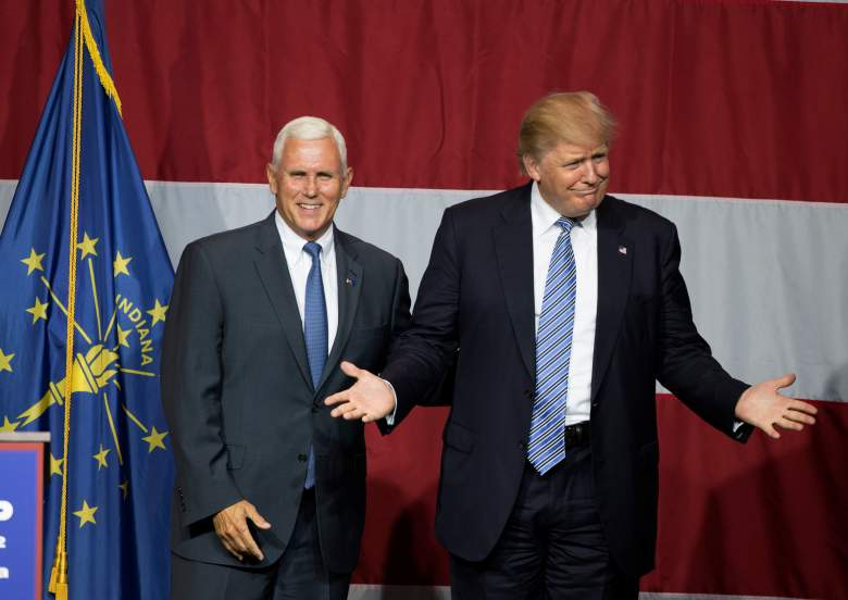 Donald Trump and Mike Pence, Mike Pence, Indiana Governor.