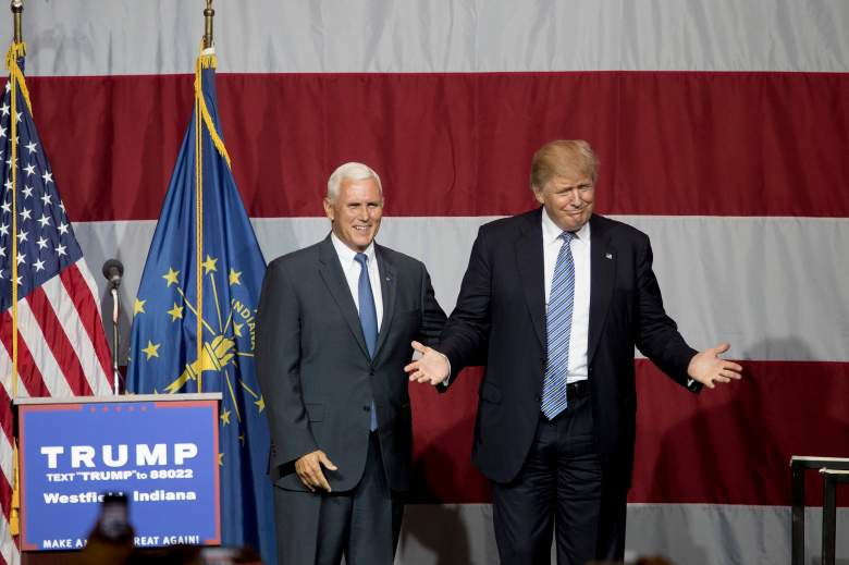 mike pence and donald trump, presidential polls, latest current, trump vs. clinton