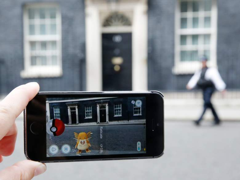 LONDON, ENGLAND - JULY 15:  A Raticate, a character  from Pokemon Go, a mobile game that has become a global phenomenon, on July 15, 2016, in Downing St , London, England. The app lets players roam using their phone's GPS location data and catch Pokemon to train and battle.The game has added millions to the value of Nintendo, which part-owns the franchise. (Photo by Olivia Harris/Getty Images)