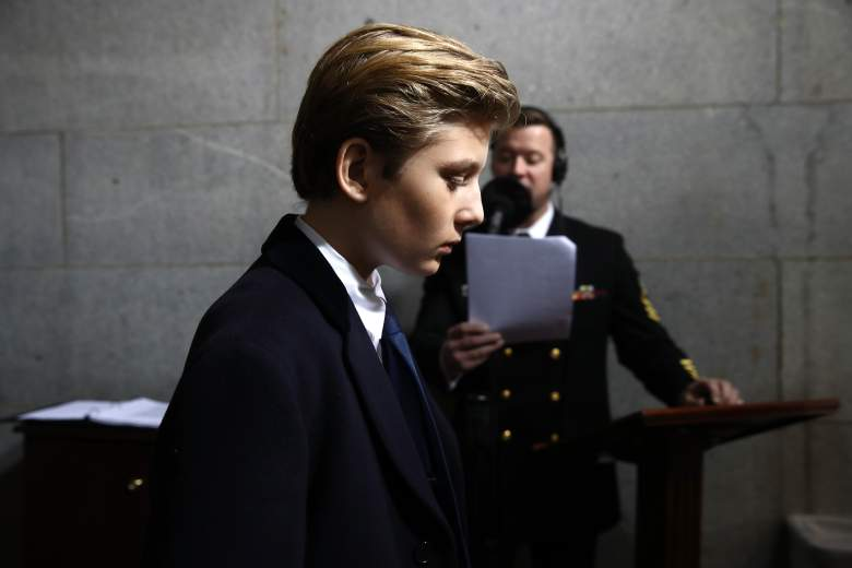WASHINGTON, DC - JANUARY 20:  Barron Trump arrives on the West Front of the U.S. Capitol on January 20, 2017 in Washington, DC. In today's inauguration ceremony Donald J. Trump becomes the 45th president of the United States.  (Photo by Win McNamee/Getty Images)