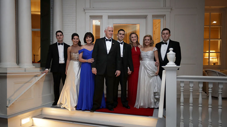 Mike Pence family
