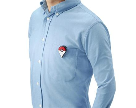 Players can also wear their Pokemon Go Plus device on a shirt or belt. (Gamestop)