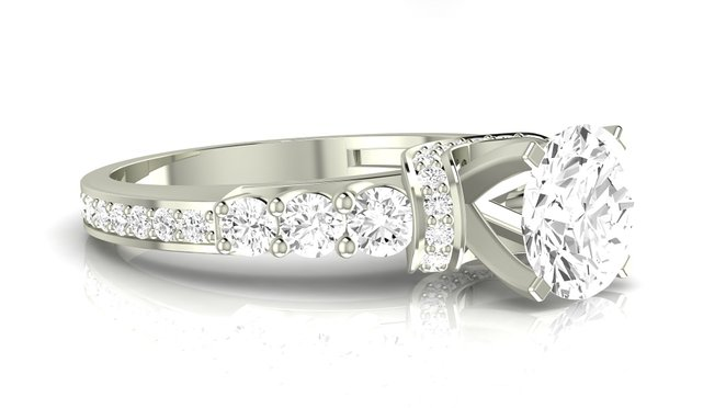 White Gold Designer Engagement Ring
