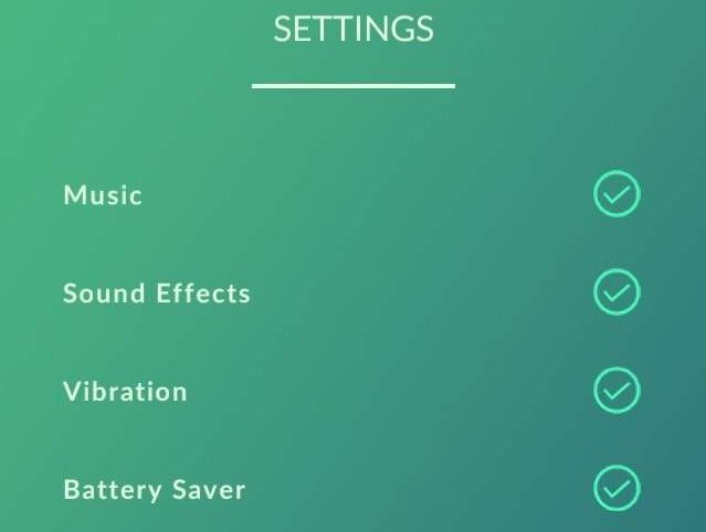 "The Pokemon Go settings tab can be reached by selecting the Poke Ball and then choosing ""settings."" (Niantic)"