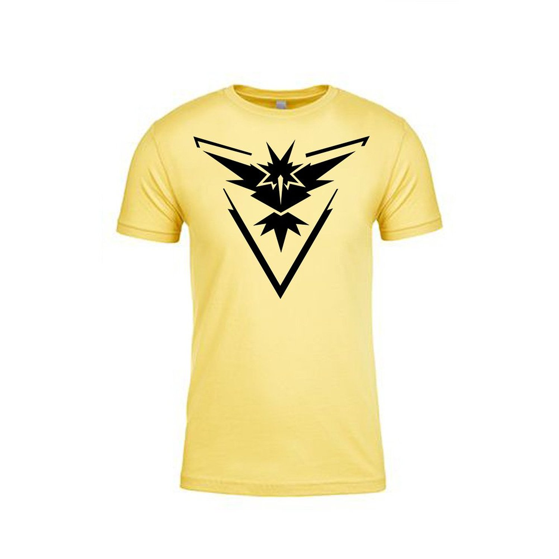 Team Instinct Logo Pokemon Go Plus Yellow T-Shirt