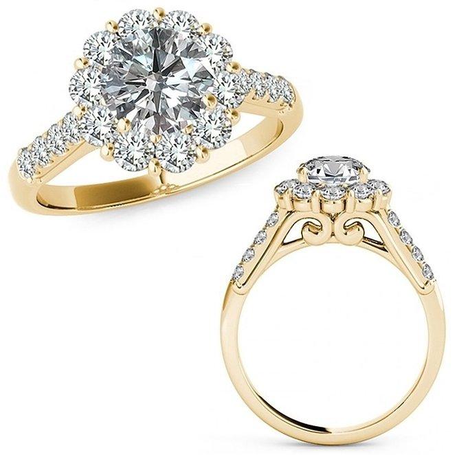 2 Carat 14K Yellow Gold Ring