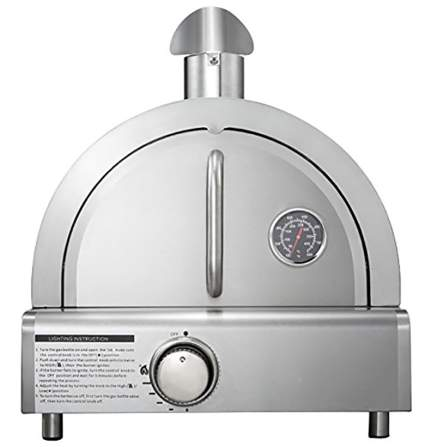 Mont Alpi MAPZ-SS Table Top Gas Pizza Oven