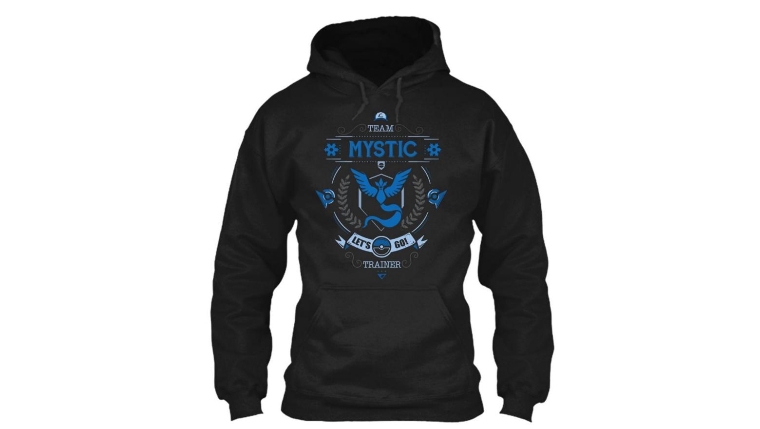 pokemon go, pokemon go team mystic, team mystic, team mystic hoodie, team mystic sweatshirt, team mystic merchandise, pokemon go merchandise, pokemon go teams, pokemon go guide
