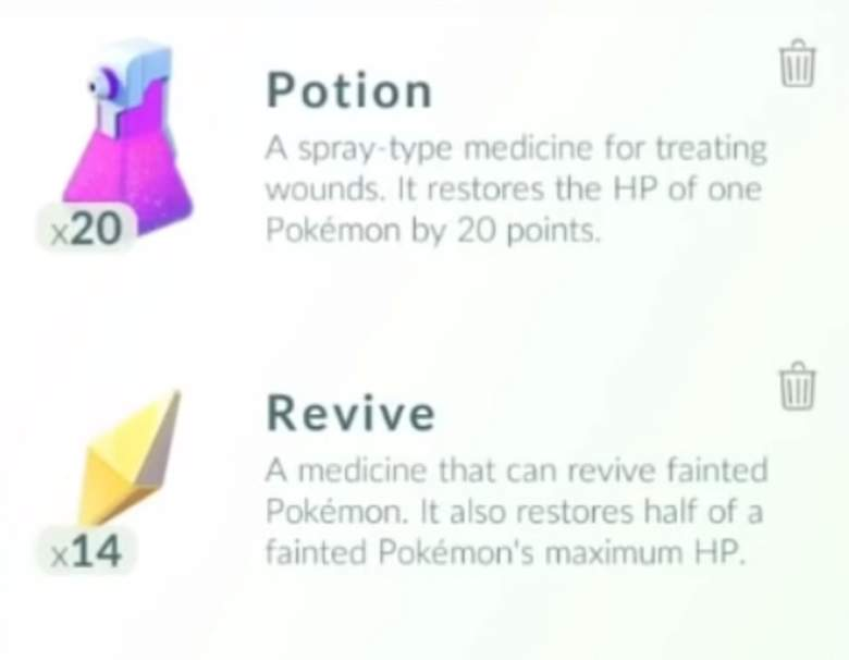 Pokemon Go players can use potions to heal Pokemon and revives to bring them back after they have fainted. (Niantic/Jason Wivart)