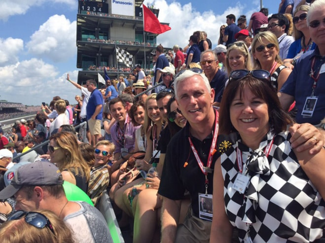 Mike Pence family, mike pence wife and kids, mike pence indy 500