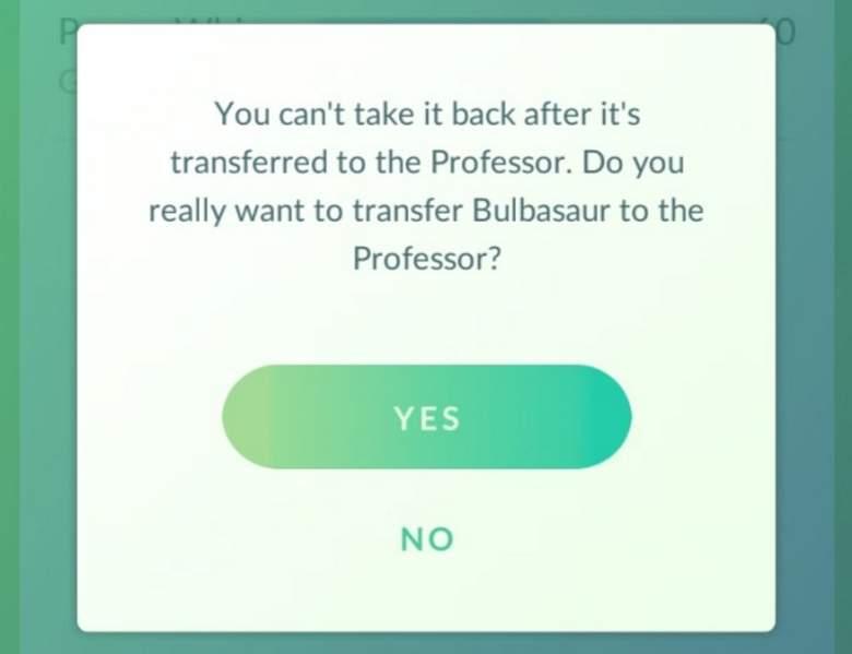 Pokemon go transfer pokemon, Pokemon Go transfer to Professor Willow, pokemon go free candy