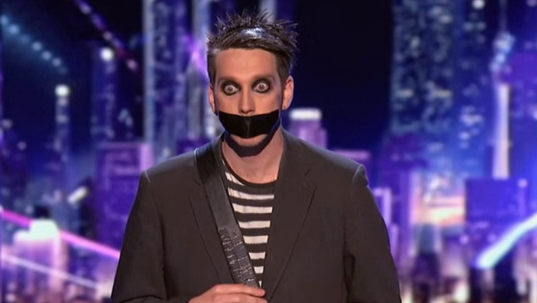 Tape Face, Tape Face AGT, Tape Face Mime, Tape Face Uses Howie Mandel On America's Got Talent, Tape Face America's Got Talent