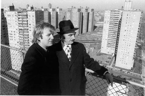 Donald Trump with his father, Fred.